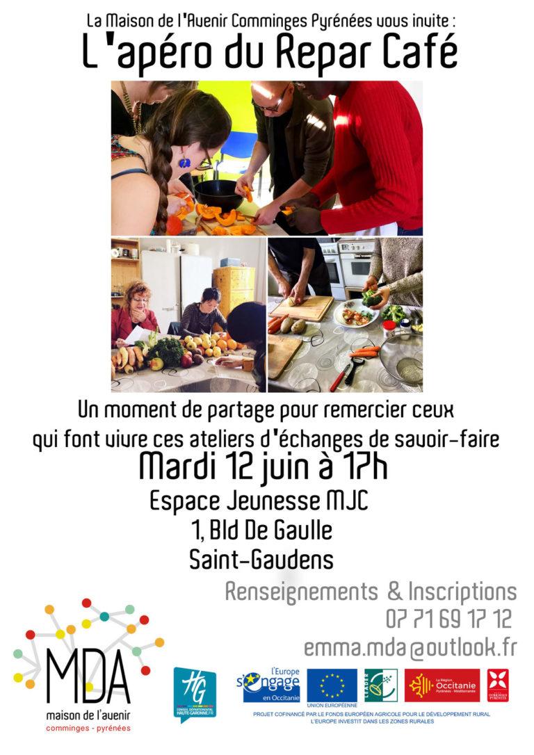 Affiche de l'atelier repar cafe du 12 juin