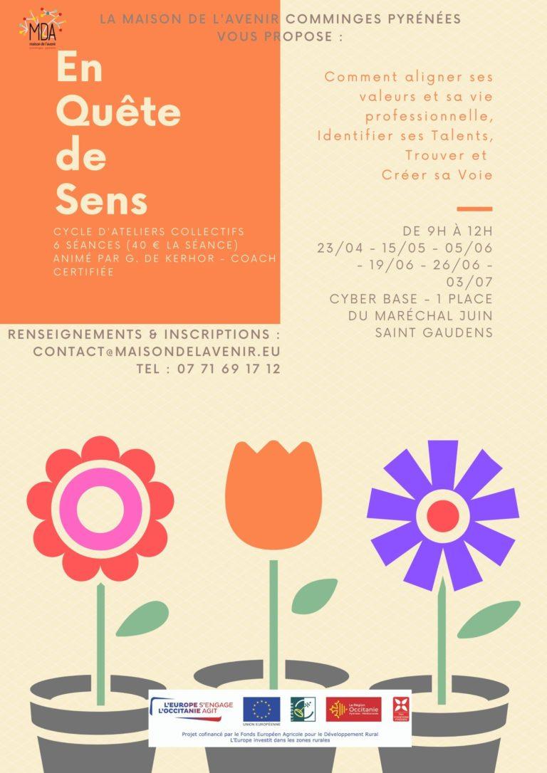 """Affiche ateliers """"En quête de sens"""" avec nouvelles dates"""