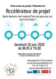 Affiche Accélérateur de projet Juin 2020