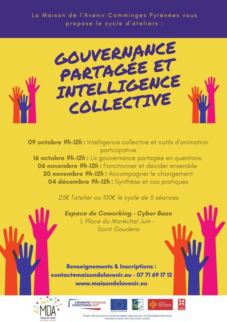 Affiche gouvernance partagée et intelligence collective